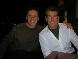 Dean Taylor with Pierce Brosnan