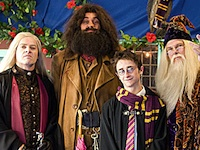 Dean Taylor, Harry Potter, Lucius Malfoy, Hagrid